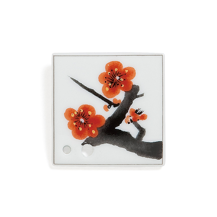 Porcelain Incense Holder Plum Blossoms/Umemi