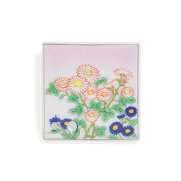 Porcelain Incense Holder Small Chrysanthemum/Shigure
