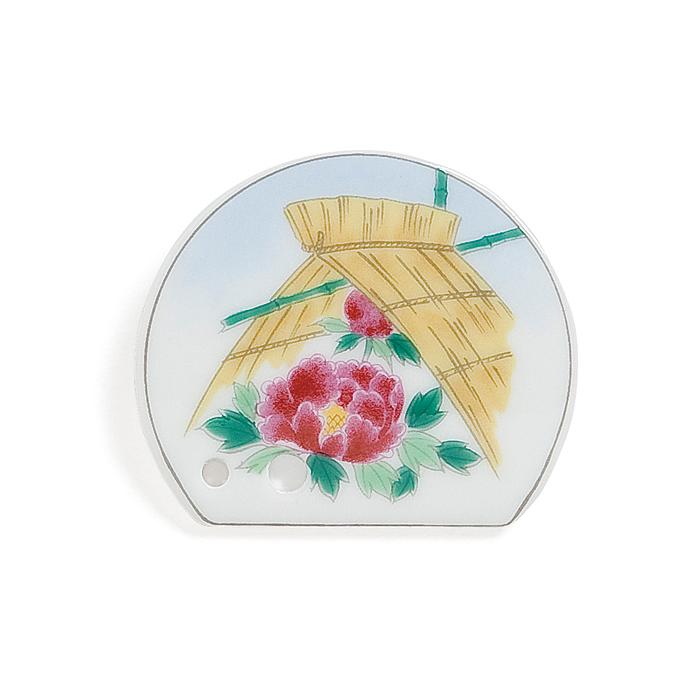 Porcelain Incense Holder Winter Peony/Shimofuri