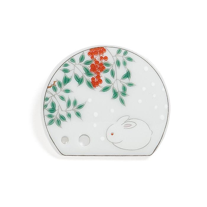 Porcelain Incense Holder White Rabbit/Harumachi