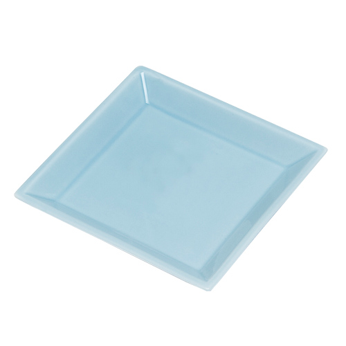 Square Porcelain Incense Tray LIGHT BLUE