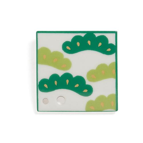 Porcelain Incense Holder Pine Tree/Matsu ★EXPORT-ONLY PRODUCT