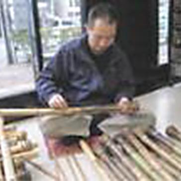真竹材の選別
