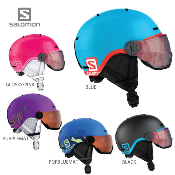 HC〕SALOMON〔Junior Kids Ski Helmet〕<2019>GROM VISOR