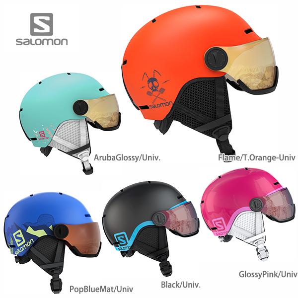 HC〕SALOMON〔Junior Kids Ski Helmet〕<2020>GROM VISOR