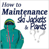 Ski wear cleaning & maintenance