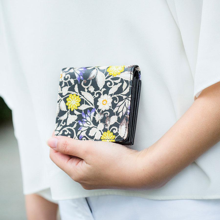 【福袋 竹】遊禅革 スリム二つ折り財布