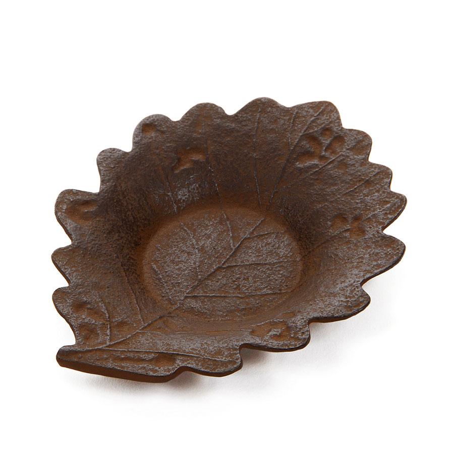 南部鉄器 茶托『木の葉』