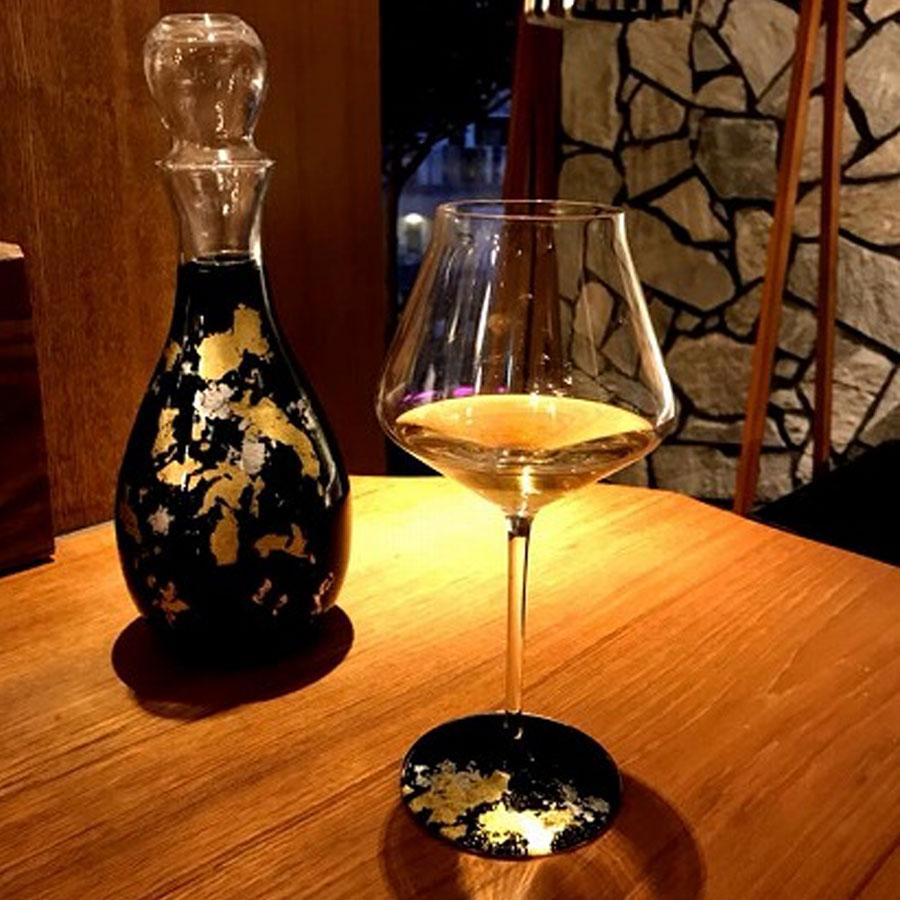 【福袋 竹】塗り工房ふじい  KODAI  金箔  ワイングラスぺルラ1P