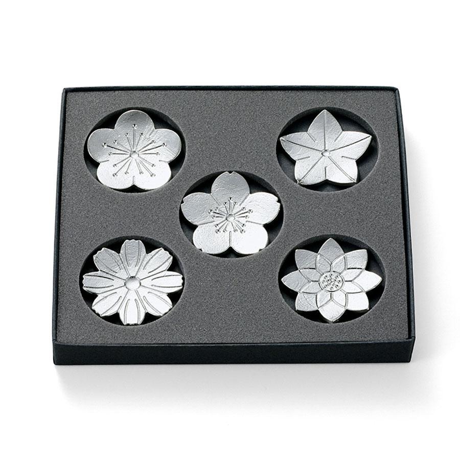 能作 箸置 「花ばな」 錫製