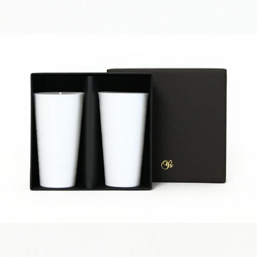 やま平窯元 エッグシェルタンブラーMペアセットギフト(化粧箱入)
