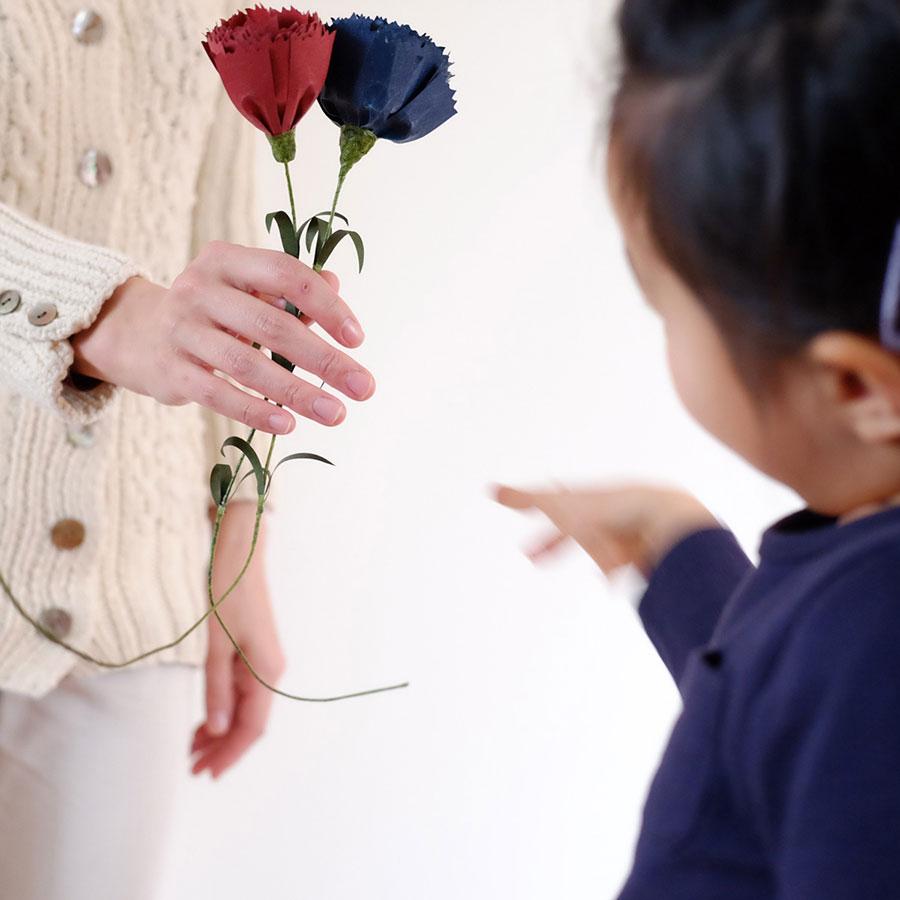 【母の日】PAPER EDEN  Carnation カーネーション  レッド