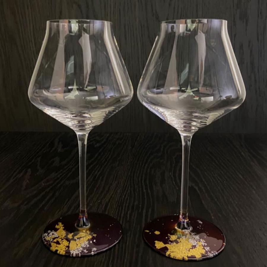 塗り工房ふじい LOTUS ワイングラスぺルラ2P