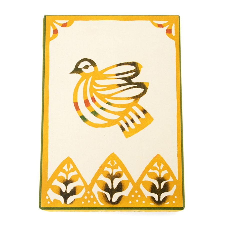 桂樹舎 和紙はがき箱「木鳥」ポストカードケース